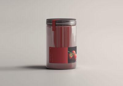 Sauce Jar PSD Mockup