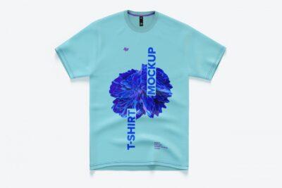 Free Short T-shirt PSD Mockup