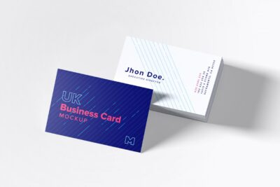 Free Business Card UK Mockup