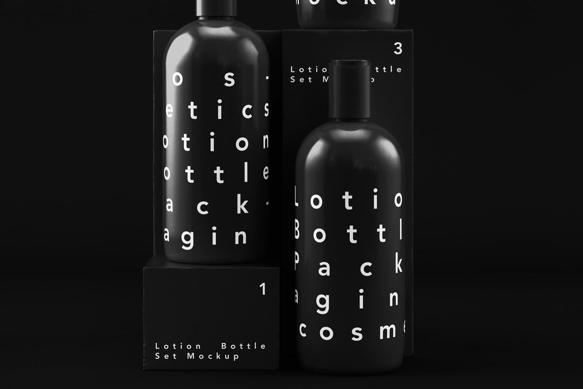 Cosmetic Bottle Packaging PSD Mockup