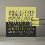 Free Square Booklet PSD Mockup