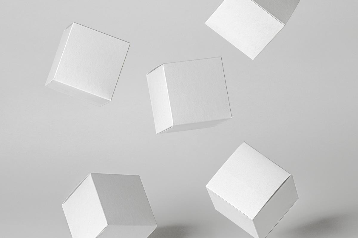 Free Square Box Product PSD Mockup