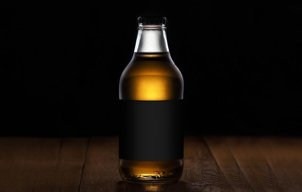 Free Drinks Bottle PSD Mockup