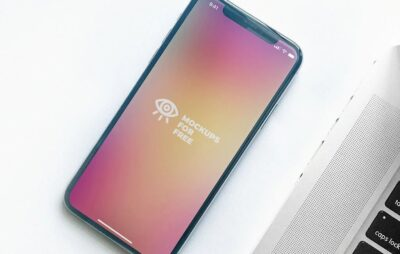 Free design iPhone X Mockup Template