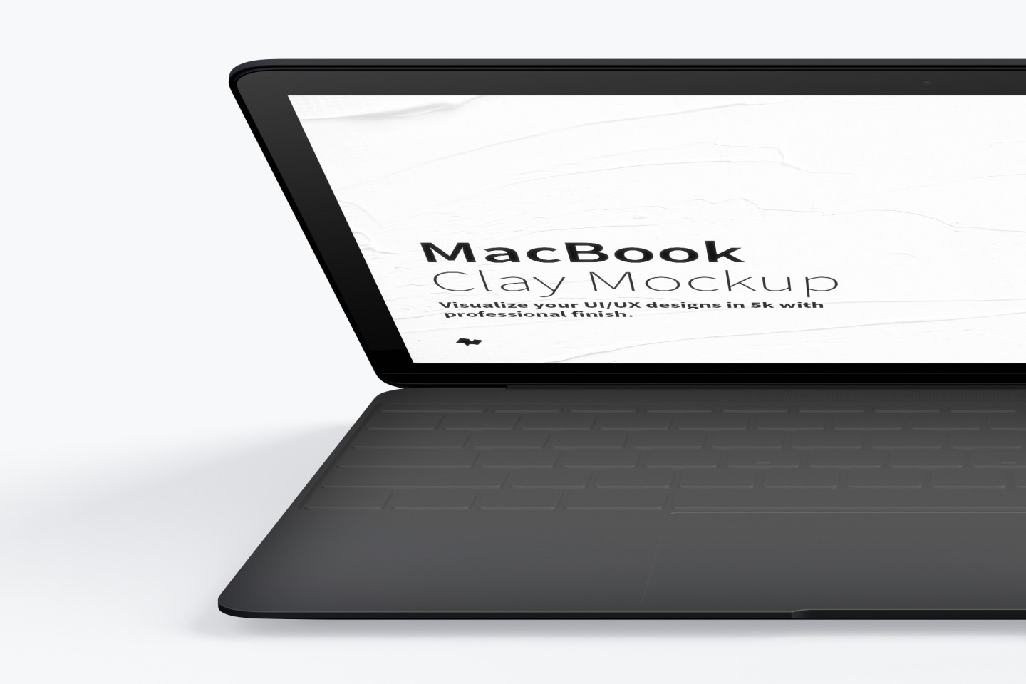 White MacBook Pro front PSD Mockup