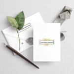 Invitation Card Stationery Mockup
