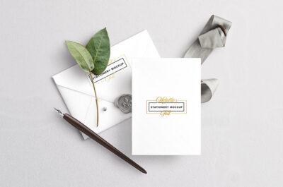 Invitation Card Stationery Mockup
