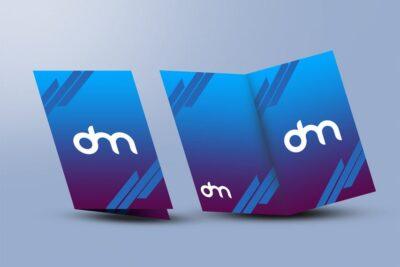 Free Bi-Fold Menu PSD Mockup