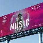 Music Advertisement Billboard Mockup