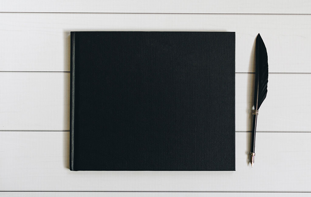 Black Notebook Cover Mockup