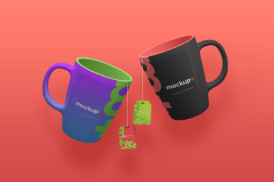 Free Tea and Coffee Mug PSD Mockup
