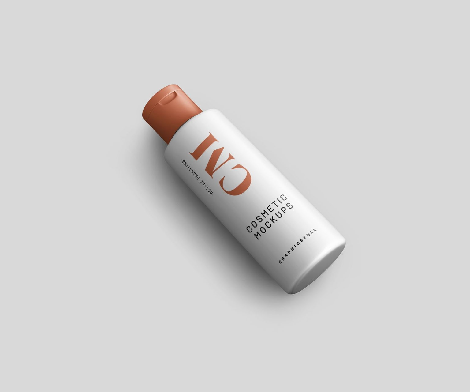 Free Cosmetic Bottle and tube Packaging Mockup