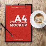 Flyer Mockup on Woody Template