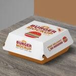 Burger Packaging PSD Mockup