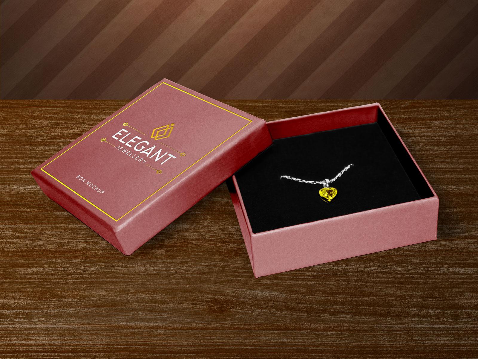Jewelry Box Packaging Mockup
