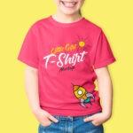 Free Fashionable Girl T-Shirt Mockup