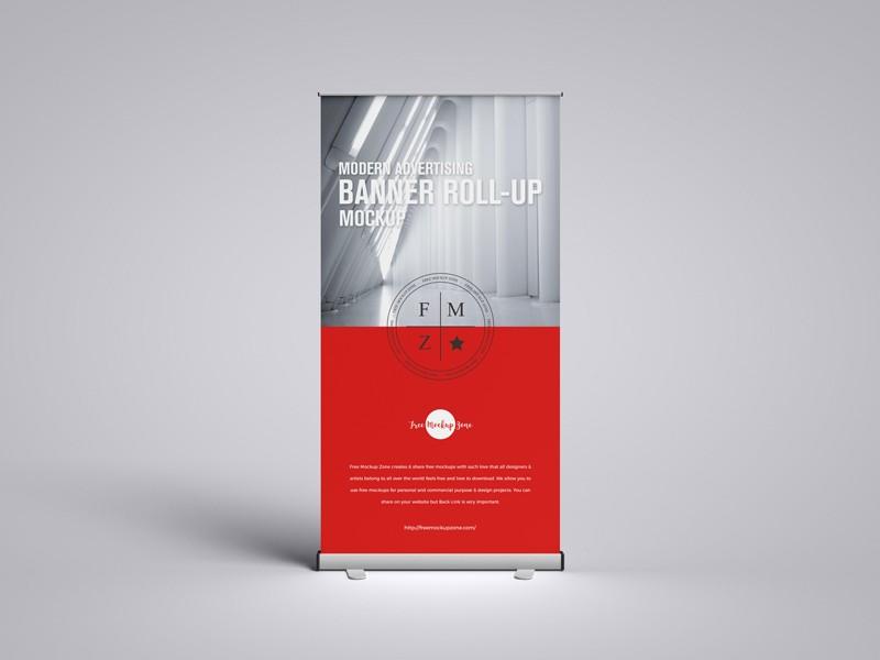 Modern Advertising Banner PSD Mockup