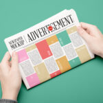 Free Newspaper Advertisement PSD Mockup