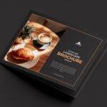 Black Landscape Brochure PSD Mockup