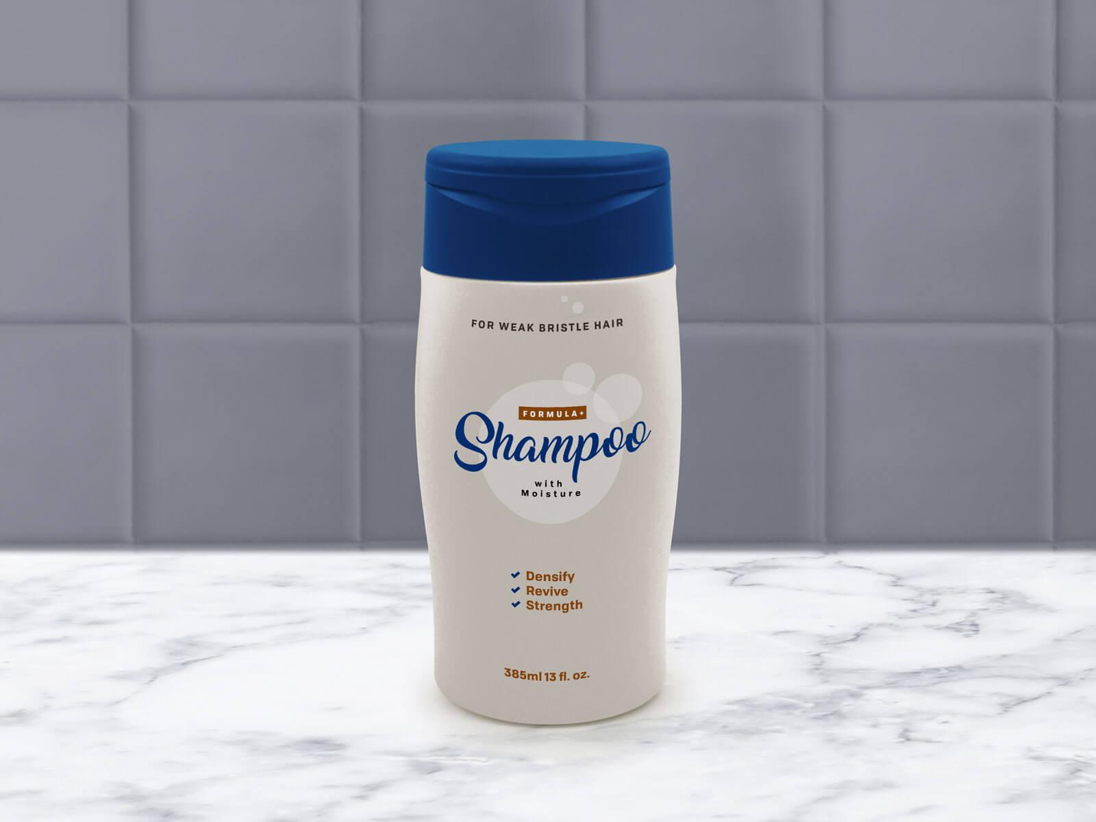 Free Shampoo Bottle Packaging Mockup