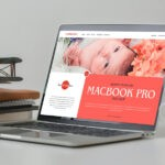 Free Laptop Showcase MacBook Pro Mockup