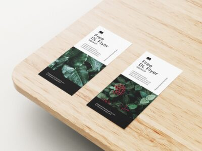 Free Paper Flyer PSD Mockup