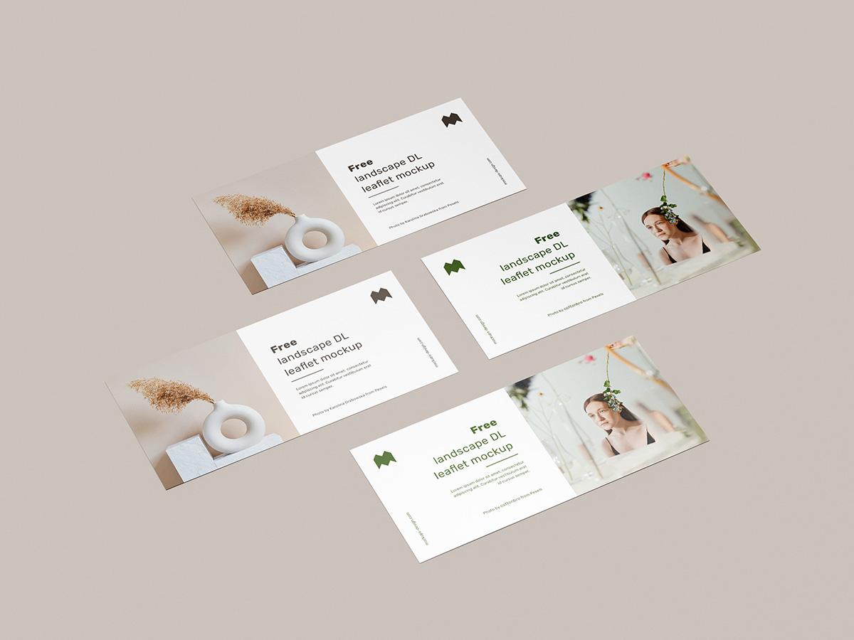 Landscape Leaflet PSD Mockup