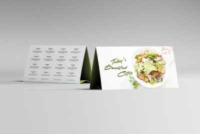 Table Tent Paper Mockup