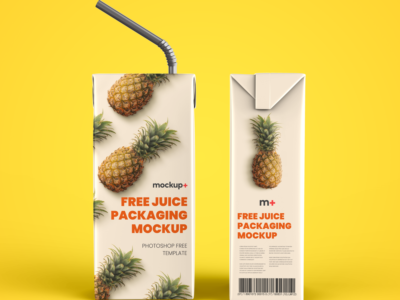 Free Juice Packaging PSD Mockup