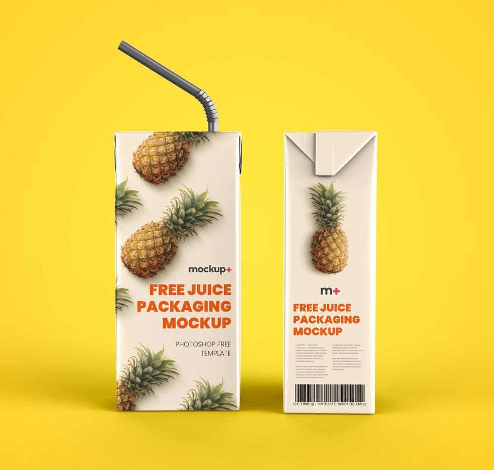 Free Juice Packaging PSD Mockup