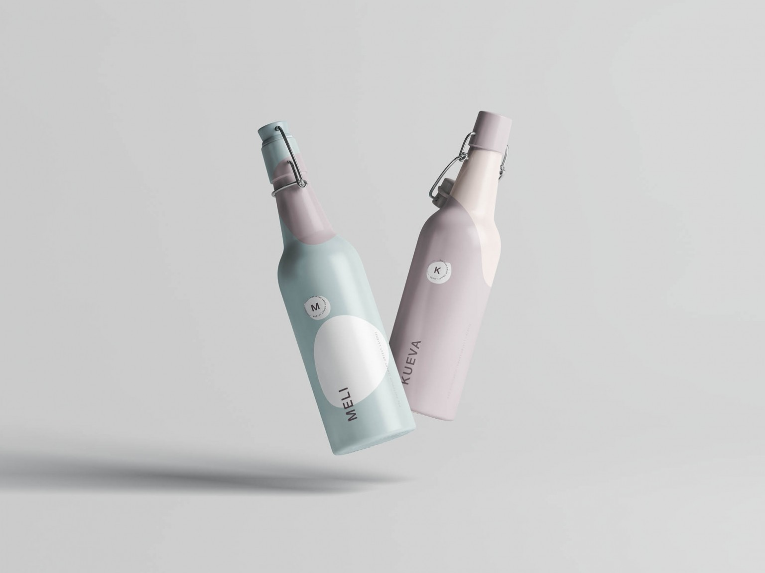 Free Carry Bottle Mockup