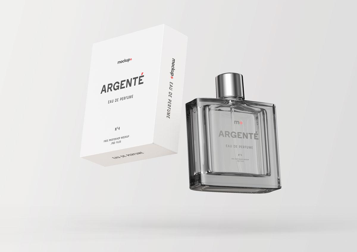 Perfume Glass Bottle PSD Mockup