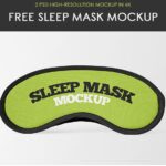 Sleeping Mask PSD Mockup