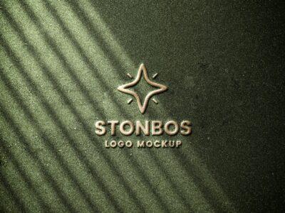 Free Emboss Logo PSD Mockup