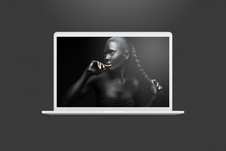 Office MacBook Pro PSD Mockup