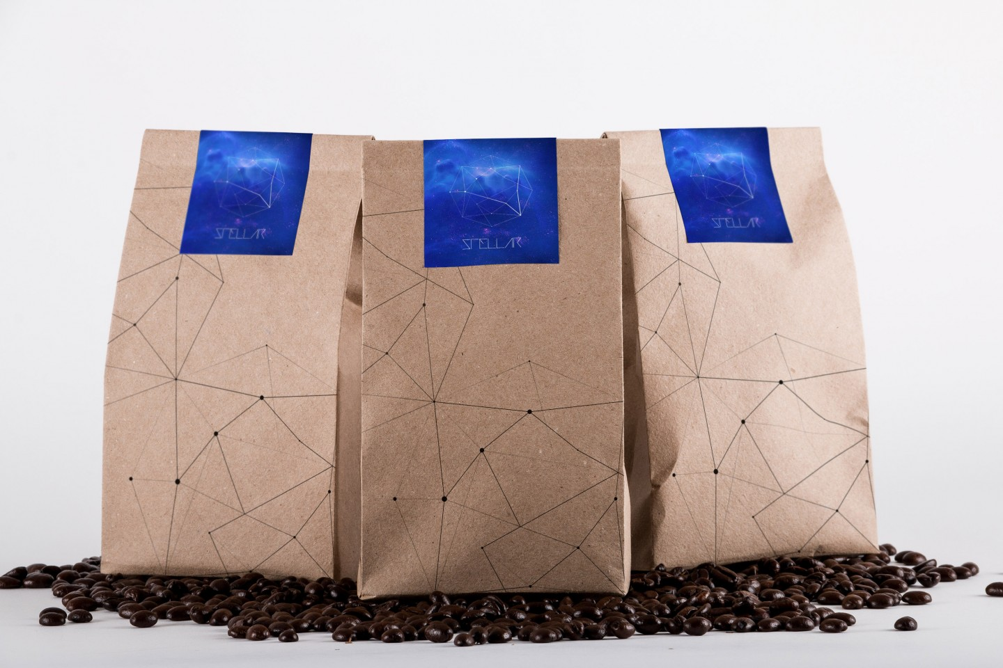 Free Coffee Bag Packaging Mockup