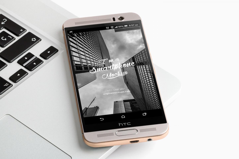 Free HTC One M9+ Mockup