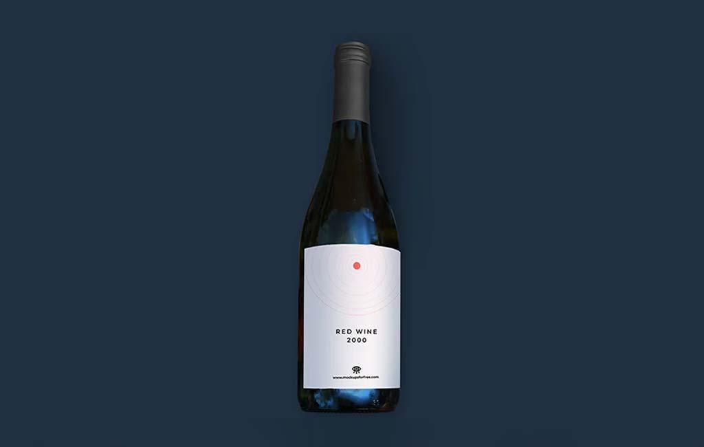 Red Wine Packaging Wine Mockup