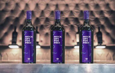 Free Wine Glass PSD Mockup