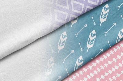 Fashionable Fabric Cotton PSD Mockup
