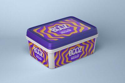 Free Original Ice Cream Box PSD Mockup