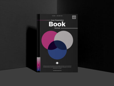 Free Square Book Cover PSD Mockup