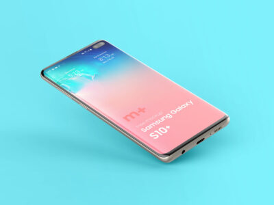 Free Samsung Galaxy S10+ PSD Mockup