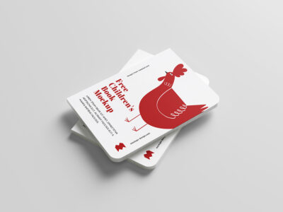 Free Kids Book PSD Mockup