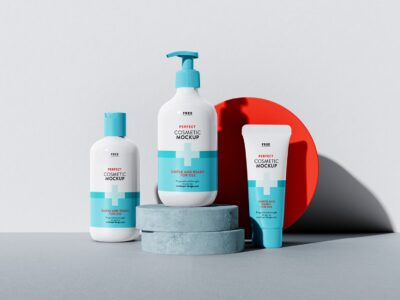 Free Cosmetic Set PSD Mockup