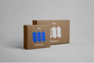Free Front Box Packaging Mockup