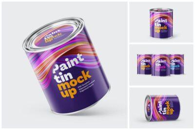 Free Paint Bucket PSD Mockup