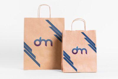 Free Brand Paper Bag PSD Mockup