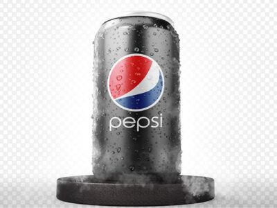 Free Pepsi Chilled CAN Mockup PSD