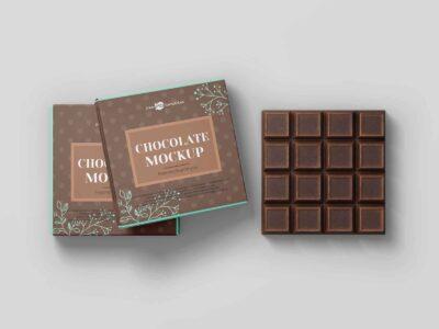 Free Bar Chocolate PSD Mockup